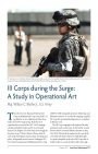 III Corps during the Surge: A Study in Operational Art