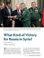 What Kind of Victory for Russia in Syria