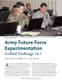 Army Future Force Experimentation: Unified Challenge 16.1
