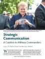 Strategic Communication: A Caution to Military Commanders