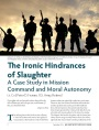 The Ironic Hindrances of Slaughter: A Case Study in Mission Command and Moral Autonomy