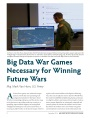 Big Data War Games Necessary for Winning Future Wars