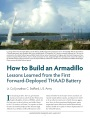 How to Build an Armadillo: Lessons Learned from the First Forward-Deployed THAAD Battery