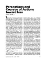 Perceptions and Courses of Actions toward Iran (Republished from Military Review September-October 2005)