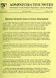 Administrative notes, vol. 15, no. 03