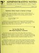 Administrative notes, vol. 14, no. 18