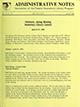 Administrative notes, vol. 15, no. 10