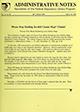 Administrative notes, vol. 14, no. 06