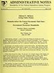 Administrative notes, vol. 14, no. 15