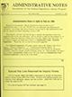 Administrative notes, vol. 14, no. 23