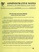 Administrative notes, vol. 14, no. 25