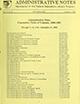 Administrative notes, vol. 14, no. 01