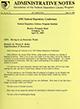 Administrative notes, vol. 14, no. 10