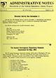 Administrative notes, vol. 14, no. 21