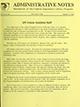 Administrative notes, vol. 14, no. 22