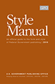 U.S. Government Publishing Office Style Manual