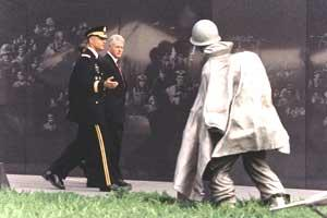 2000 Public Papers - Touring the Korean War Memorial during the 50th anniversary commemoration, June 25