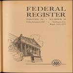Cover of a 1965 issue of the Federal Register