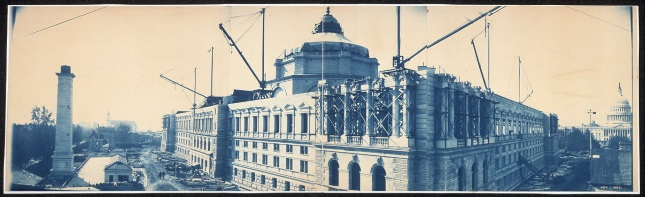 The Library of Congress under construction, November 1, 1893