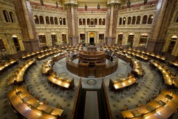 The Library of Congress reading room