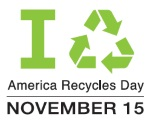 America Recycles Day logo and date