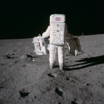 Buzz Aldrin deploys Apollo 11 experiments