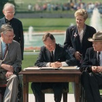 President Bush signing the ADA