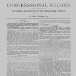 Image of a page from the Bound Congressional Record