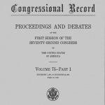 Issue of the digitized Bound Congressional Record from 1931