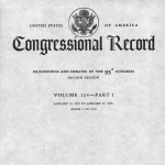 Image of the cover of an issue of the Bound Congressional Record from 1978