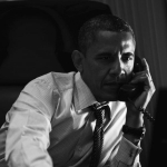 President Obama speaking with Prime Minister Mario Monti of Italy by telephone aboard Air Force One, June 6.