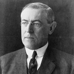 Woodrow Wilson, head-and-shoulders portrait, facing left