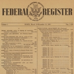 Issue of the Federal Register Index from 1936