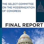 Partial cover of the Select Committee on the Modernization of Congress final report.