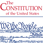 Image of a portion of the front cover of the Pocket Constitution