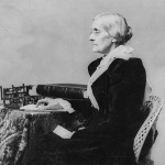 Side image of Susan B. Anthony sitting, Source: Library of Congress